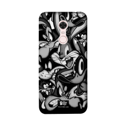The Souled Store Looney Tunes - Characters Polycarbonate Mobile Back Case Cover for Xiaomi Redmi Note 5 (84961, Black/White)_1