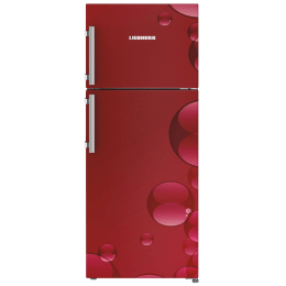 Liebherr 265 L 4 Star Frost Free Double Door Inverter Refrigerator (TCR 2640, Red Bubbles)_1