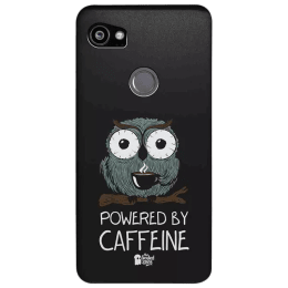The Souled Store Caffeine Addict Polycarbonate Mobile Back Case Cover for Google Pixel 2 XL (80164, Black)_1