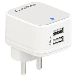 Stuffcool Mars 2.4 Amp Dual USB Wall Charging Adapter (WCMARS-WHT, White)_1