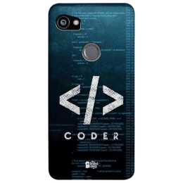 The Souled Store Coder Polycarbonate Back Case Cover for Google Pixel 2 XL (80172, Teal Green)_1