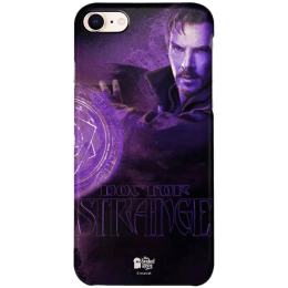 The Souled Store Doctor Strange - Sorcerer Polycarbonate Back Case Cover for Apple iPhone 8 (119640, Purple)_1