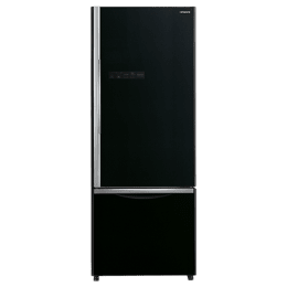 Hitachi 466 Litres 2 Star Frost Free Inverter Double Door Refrigerator (Bottom Mount, Selected Mode Compartment, R-B500PND6-GBK, Glass Black)_1