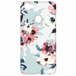 RedFinch Flower Print Hard Back Case Cover for Oppo F7 (HD_oppoF7_FLW_001, Multicolor)_1
