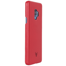 Robobull Smartkase Premium Leather Back Case Cover for Samsung Galaxy S9 (3700023508, Ruby Red)_1