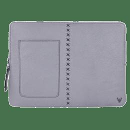 Robobull Leather 13 inch Laptop Sleeve (Grey)_1