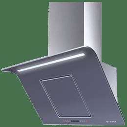 Faber Curvy Plus BK TC LTW 1000 m³/hr 60cm Wall Mount Chimney (Touch Control, 110.0393.697, Black)_1