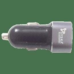 Syska Swift 2.4 Amp Car Charging Adapter (Space Grey)_1
