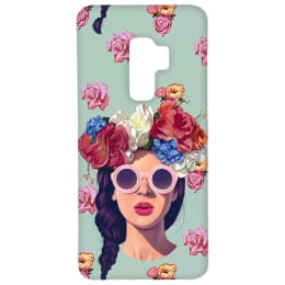 RedFinch Lady Print Hard Back Case Cover for Samsung Galaxy S9 Plus (HD_SM S9+_LD_003, Multicolor)_1