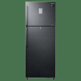 Samsung 478 Litres 2 Star Frost Free Inverter Double Door Refrigerator (5-in-1 Convertible, RT49K6338BS/TL, Black Inox)_1