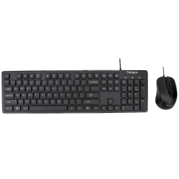 Targus M200 1600 DPI Wired USB Keyboard & Mouse Combo (AKM200AP, Black)_1