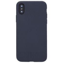 Robobull Carbon Polyurethane Back Case Cover for Apple iPhone X/XS (3700000416, Blue)_1