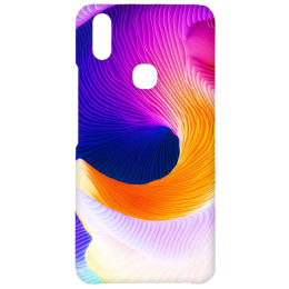 Cangaroo Full Curvy Textured Polycarbonate Hard Back Case Cover for Vivo V9 (HD_VivoV9_Kri_024_CUVY, Multicolor)_1