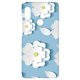 Cangaroo Small Blue Floral Emboss Polycarbonate Hard Back Case Cover for Xiaomi Note 5 Pro (HD_RdmiN5P_Kri_011_BGFLR, Blue)_1