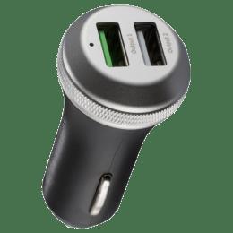 Syska Rapid Dual USB Car Charging Adapter (Space Grey)_1