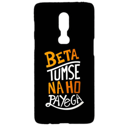 Cangaroo Beta Tumse Na Ho Payega Polycarbonate Hard Back Case Cover for OnePlus 6 (HD_1P6_Kri_004_BETABL, Black)_1