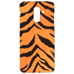 Cangaroo Tiger Textured Polycarbonate Hard Back Case Cover for Samsung Galaxy A6 Plus/J8 (HD_SamA6P_Kri_025_TIGER, Yellow)_1
