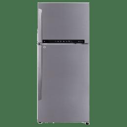 LG 437 L 3 Star Frost Free Double Door Inverter Refrigerator (GL-T432FPZU, Shiny Steel)_1