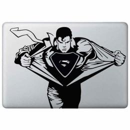 Macmerise Supermania Decal for 11 Inches Apple MacBook Pro (MCDM15DK0200, Black)_1