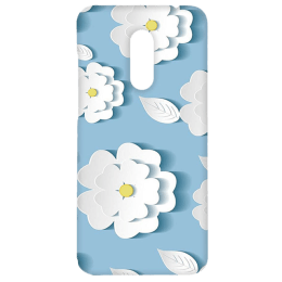 Cangaroo Small Blue Floral Emboss Polycarbonate Hard Back Case Cover for Xiaomi Note 5 (HD_RdmiN5_Kri_011_BGFLR, Blue)_1