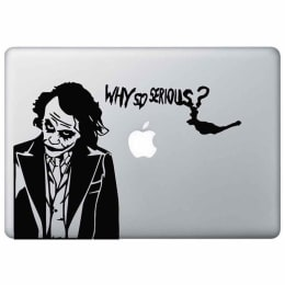 Macmerise Why So Serious Decal for 11 Inches Apple MacBook (MCDM13DK0098, Black)_1