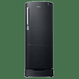Samsung 212 L 3 Star Direct Cool Single Door Inverter Refrigerator (RR22M285/N383ZBS, Black)_1