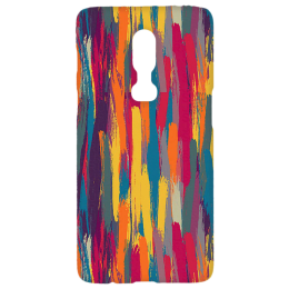 Cangaroo Chalc Colourful Textured Polycarbonate Hard Back Case Cover for OnePlus 6 (HD_1P6_Kri_023_ABTSTRIP, Multicolor)_1