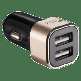 Syska Swift 2.4 Amp Car Charging Adapter (Gold)_1