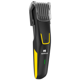 Havells BT6153C Stainless Steel Blades Cord & Cordless Beard Trimmer (Detachable Blades, Yellow)_1