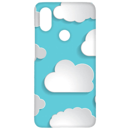Cangaroo Big Clouds Emboss Polycarbonate Hard Back Case Cover for Xiaomi A2 (HD_MiA2_Kri_013_CLUD, Blue)_1