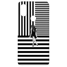 Cangaroo Girl in Center Polycarbonate Hard Back Case Cover for Xiaomi A2 (HD_MiA2_Kri_007_BWGRL, Black)_1