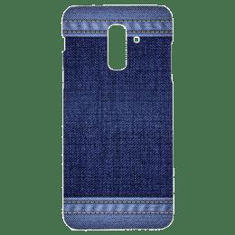 Cangaroo Denim Design Polycarbonate Hard Back Case Cover for Samsung Galaxy A6 Plus/J8 (HD_SamA6P_Kri_010_DENM, Blue)_1