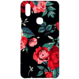 RedFinch Black Flower Print Hard Back Case Cover for Vivo V9 (HD_VIVO V9_FLB_006, Multicolor)_1