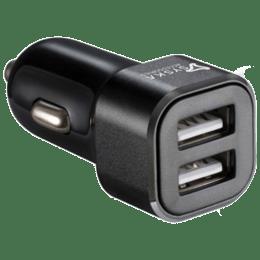 Syska Swift 2.4 Amp Car Charging Adapter (Black)_1