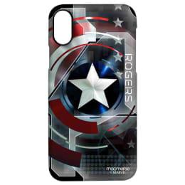 Macmerise Captain America Rogers Polycarbonate Back Case Cover for Apple iPhone X (IPCIPXPMM2646, Black)_1