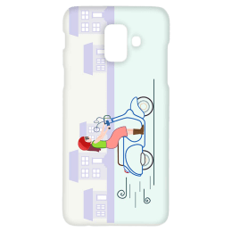 Cangaroo Cute Girl On Scooter Polycarbonate Hard Back Case Cover for Samsung Galaxy A6 (HD_SamA6_Kri_006_SCTGRL, Multicolor)_1