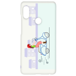 Cangaroo Cute Girl On Scooter Polycarbonate Hard Back Case Cover for Xiaomi Note 5 Pro (HD_RdmiN5P_Kri_006_SCTGRL, Multicolor)_1