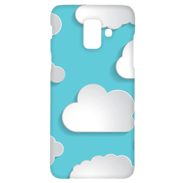 Cangaroo Big Clouds Emboss Polycarbonate Hard Back Case Cover for Samsung Galaxy A6 (HD_SamA6_Kri_013_CLUD, Blue)_1