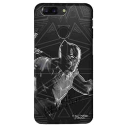 Macmerise Black Panther Stare Polycarbonate Back Case Cover for OnePlus 5T (OPCO5TSMM0244, Black)_1