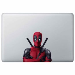 Macmerise Deadpool Stance Decal for 11 Inches Apple MacBook (MCDM13MM0098, Red)_1