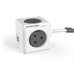 Allocacoc Powercube Power Adapter with USB Extension Cable (6804/INEUPC, Grey)_1
