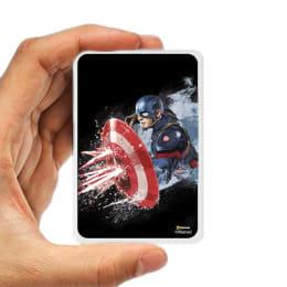 Hamee 5000 mAh Captain America Print Power Bank (831-Power1443, Black)_1