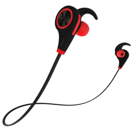 Leaf Ear ExtraBass Bluetooth Earphones (Red)_1