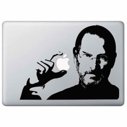 Macmerise Steve Apple Jobs Decal for 11 Inches Apple MacBook Pro (MCDM15MI0092, Black)_1