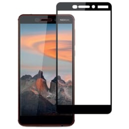 Stuffcool Mighty 2.5D Tempered Glass Screen Protector for Nokia 6.1 (MGGP25DNK618, Black)_1