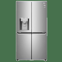 LG 889 L 3 Star Frost Free Side-By-Side Inverter Refrigerator (GR-J31FTUHL, Silver)_1