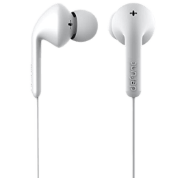 Defunc Basic Music In-Ear Wired Earphones with Mic (14mm Dynamic Driver Unit, White)_1