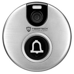 TigerTech Tigerguard Smart Wi-Fi Video Doorbell (TT-BELL-01, Silver)_1