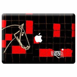 Macmerise Masaba Red Checkered Horse Skin for 11 Inches Apple MacBook Pro (MCS17PMS0086, Red)_1