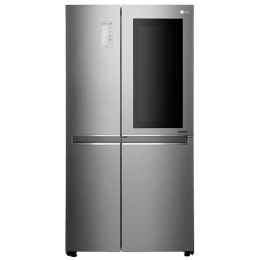 LG 687 L 3 Star Side-By-Side Inverter Refrigerator (GC-Q247CSBV, Stainless Steel)_1